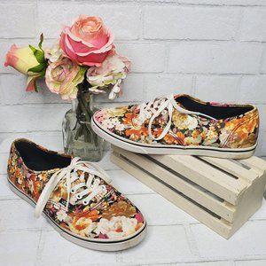 Vans Pink Floral Skater Tennis Shoes